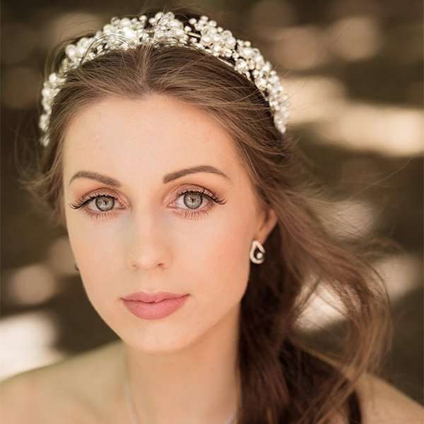 bridal headband, wedding headband, debutante head band