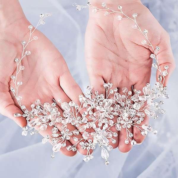 Wedding crystal hair vine