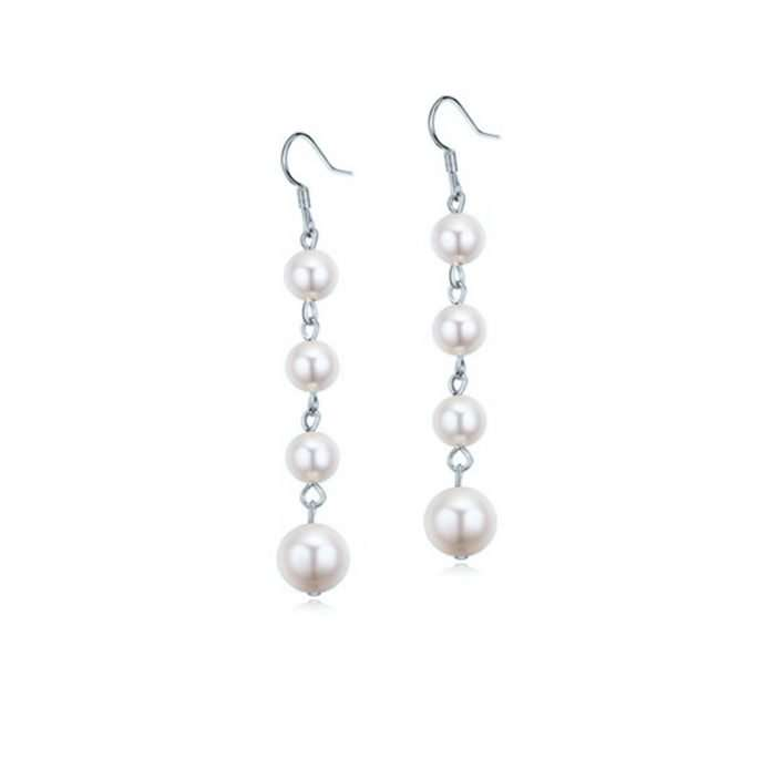 Jewellery, earrings, pearl, faux, Swarovski, crystal, bride, bridal, designs, wedding, Forever and Again Bridal and Beauty signature range, Austrian, Silver, Rhodium, gold, silver, jewelry, Spain, Barcelona, Valencia, Morocco