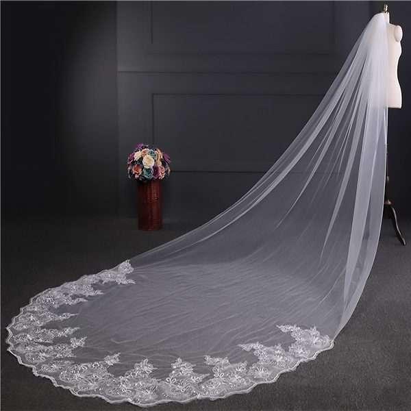 4 meter bridal veil