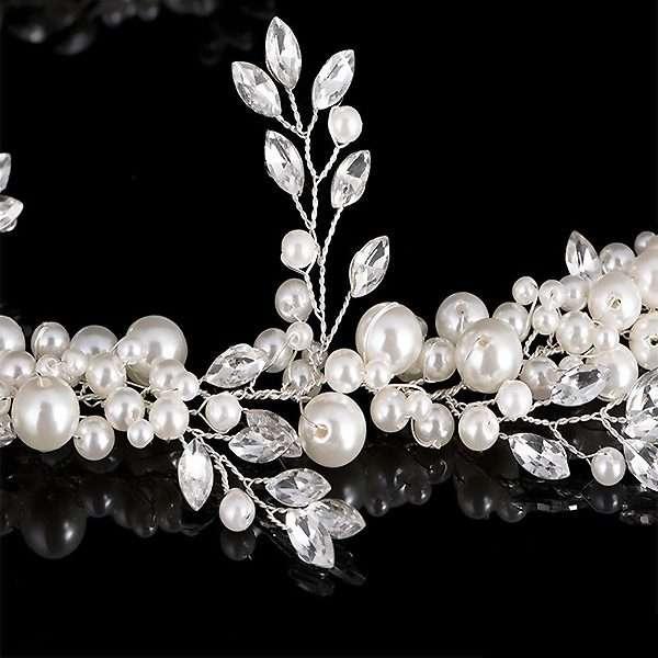 Bridal pearl embellished belt