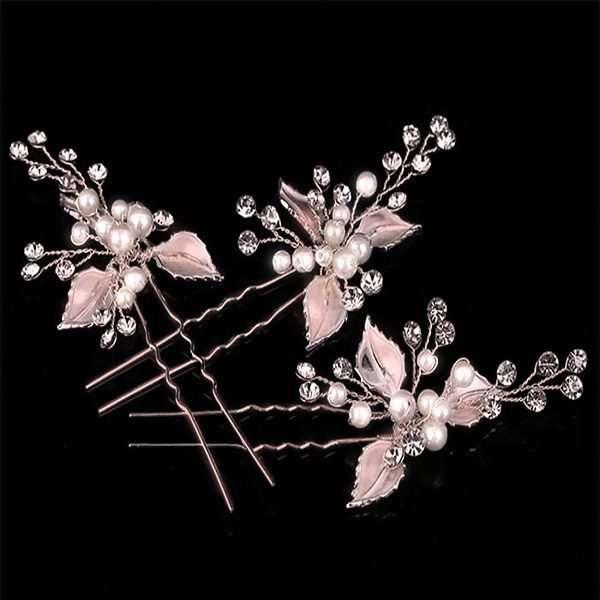 Brushed rose gold hairpin