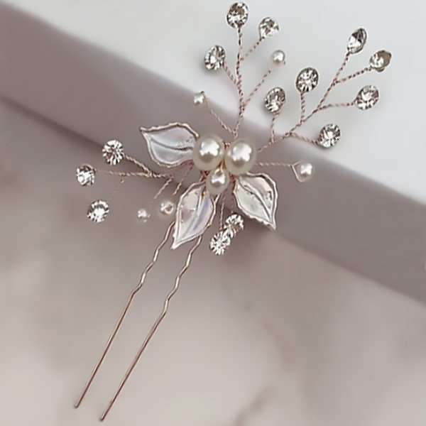 Brushed Rose hair pin