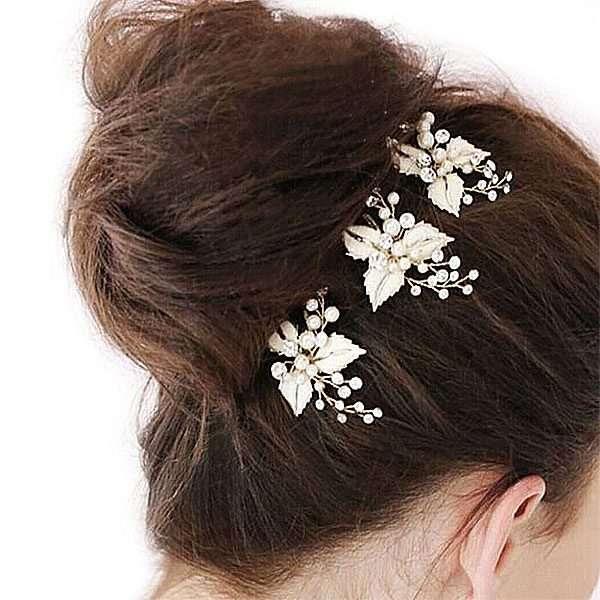 Brushed rose gold hair pin