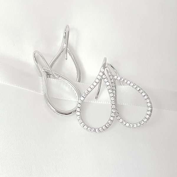 Elegant drop crystal earrings