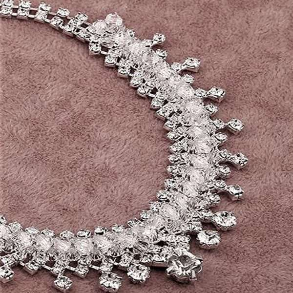2 piece crystal set necklace