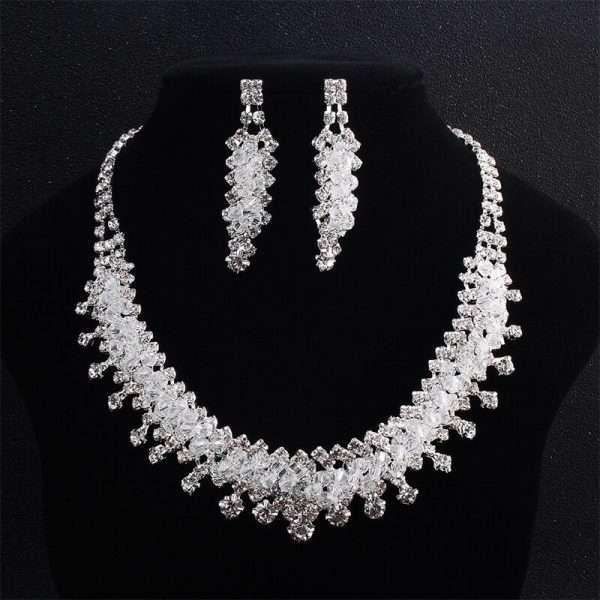Crystal bridal set