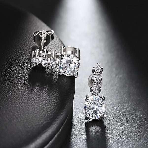 Bridal earrings, crystal earrings