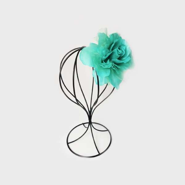 Teal flower for Spring Race Carnival