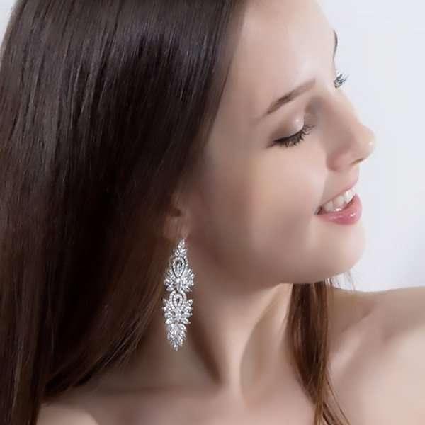 Chandelier earrings, long earrings, wedding earrings