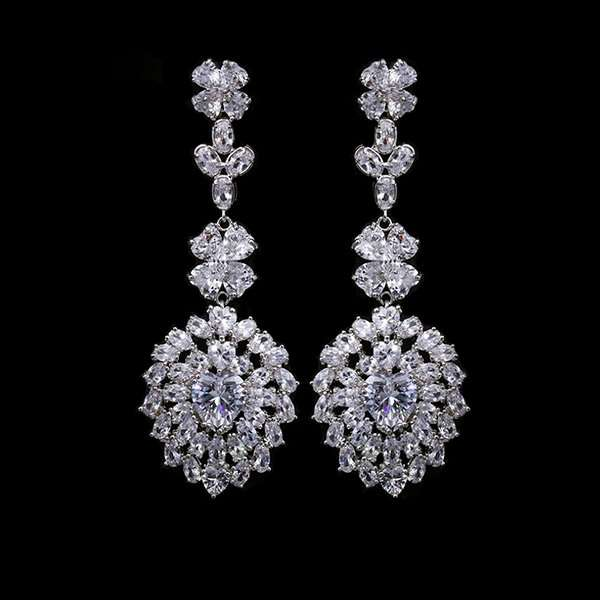 Wedding jewellery, bridal earrings