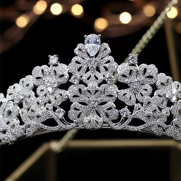 wedding crown, bridal zirconia crown