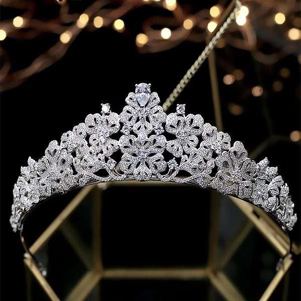 Wedding crown, cubic zirconia crown