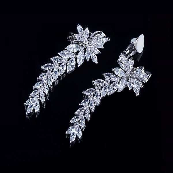 Bridal earrings, wedding jewellery