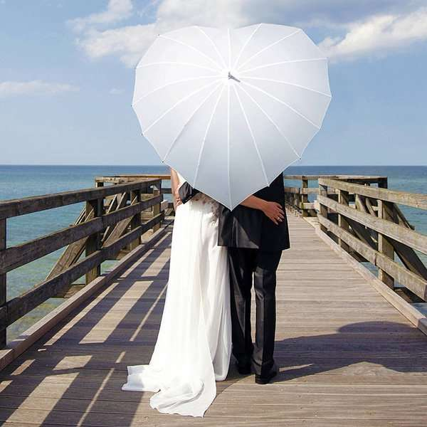 White heart shaped umbrella, wedding umbrella, bridal umbrella, white heart umbrella, wedding accessories, Bridal accessories Melbourne, wedding accessories sydney, wedding accessories Adelaide