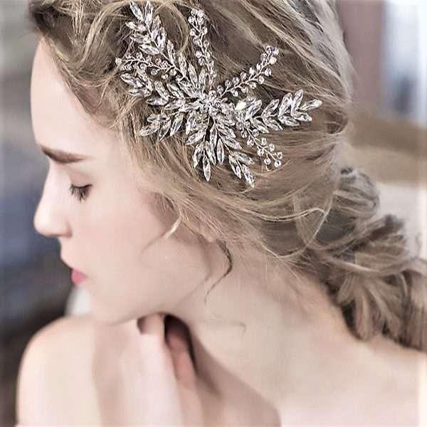 Debutante crystal hair clip, bridal crystal clips