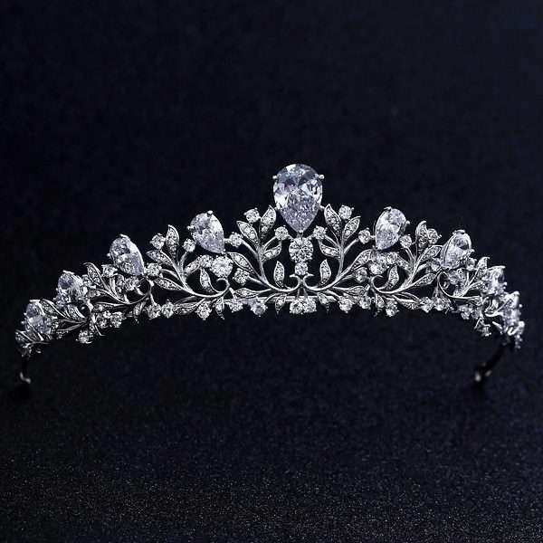 Bridal crown, CZ crystal AAA quality bridal crown tiara