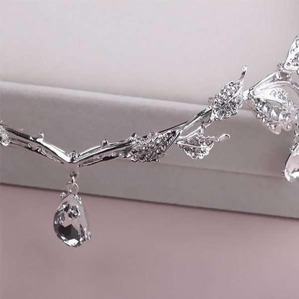 Crystal Swarovski embellished waterdrop headband