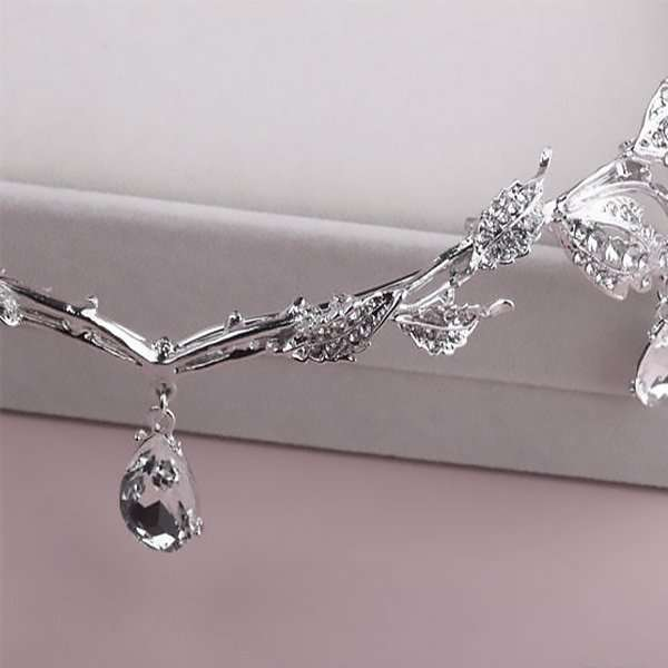 Crystal Swarovski embellished waterdrop headband