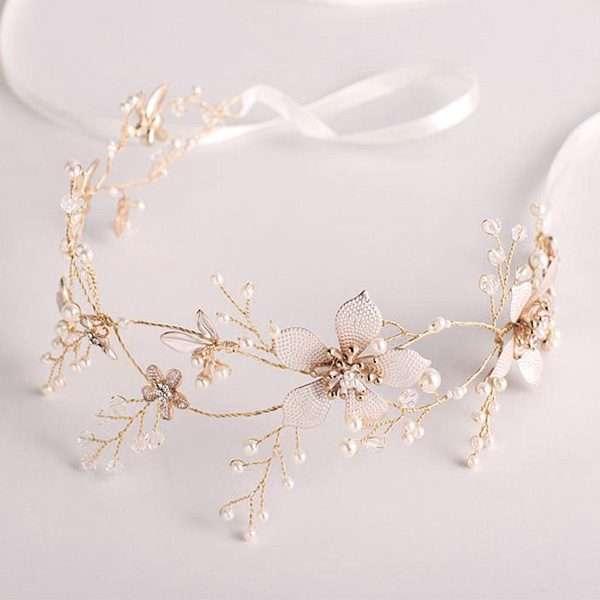Bridal hair vines, hairvine, rose gold hair vine