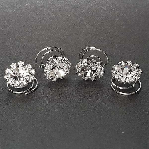 Crystal hair screws