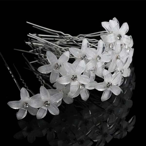 Crystal floral hairpins