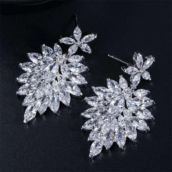 Debutante earrings, bridesmaid crystal earrings.