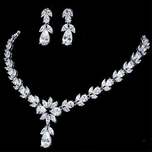 Bridal jewellery, wedding jewellery, debutante jewellery set