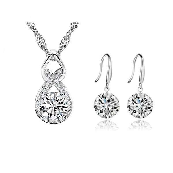 Crystal jewellery set, bridal party sets, wedding jewellery