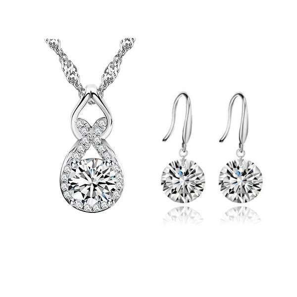 Crystal jewellery set, bridal party sets, wedding jewellery