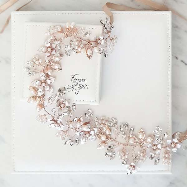 Rose Swarovski embellished hairvine