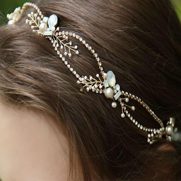 golden crystal hair vine