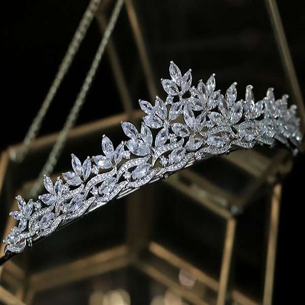 Cubic Zirconia bridal crown
