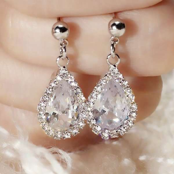 Crystal event earrings
