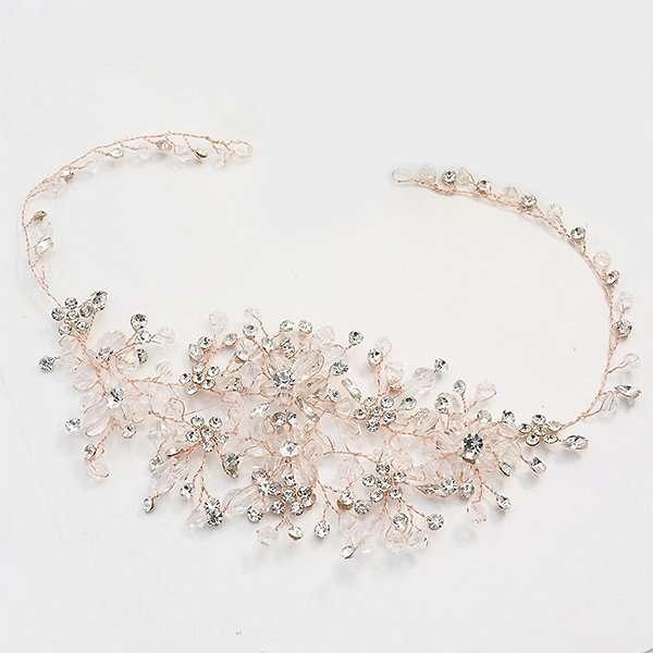 Bridal hairvine in Rose Gold