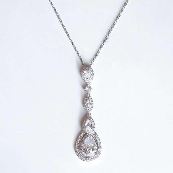 Long drop necklace pendant