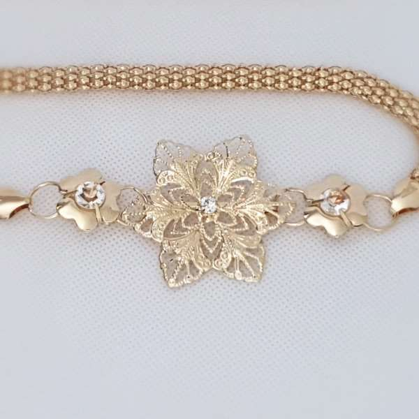 Floral wedding belt
